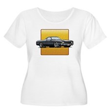 Black w/White Stripes El Cami T-Shirt