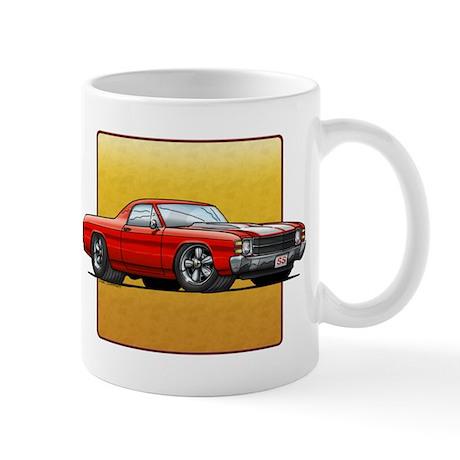 Red w/White Stripes El Camino Mug