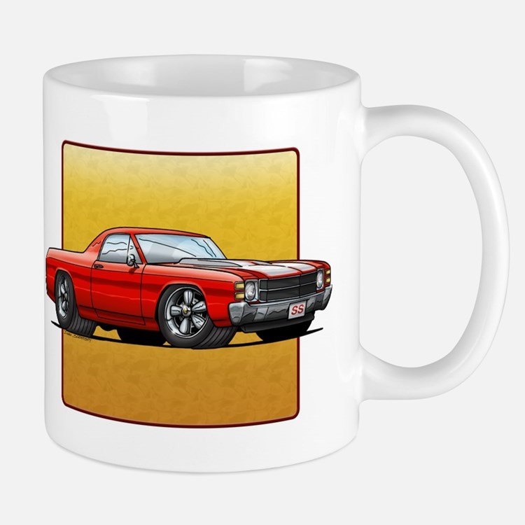 Red w/White Stripes El Camino Mug