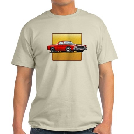 Red w/White Stripes El Camino Light T-Shirt