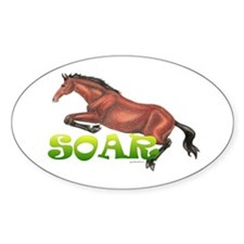 """SOAR"" Hunter/Jumper Oval Decal"