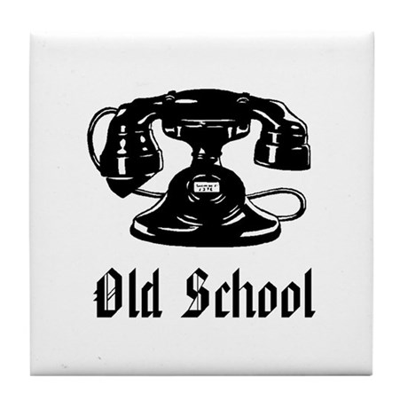 OLD SCHOOL 1 Tile Coaster