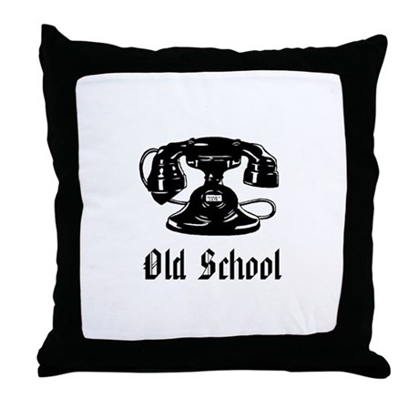 OLD SCHOOL 1 Throw Pillow