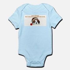 Sleep with Saint Bernards Infant Creeper