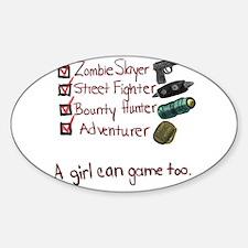 Girl Gamer Oval Decal