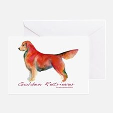 Golden Retriever in color Greeting Card