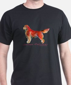 Golden Retriever in color T-Shirt