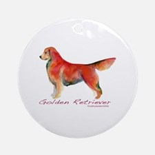 Golden Retriever in color Ornament (Round)