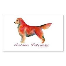 Golden Retriever in color Rectangle Decal