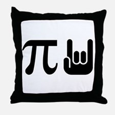 Pi Rocks Throw Pillow