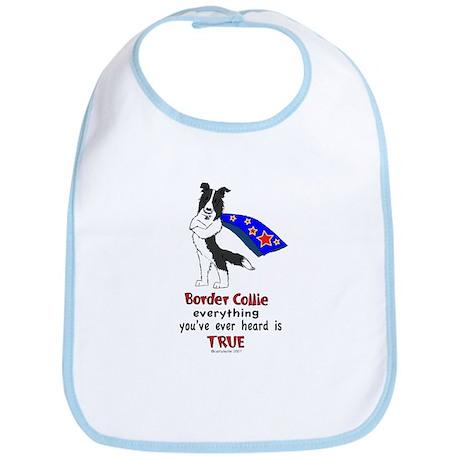 Super Border Collie- black Bib
