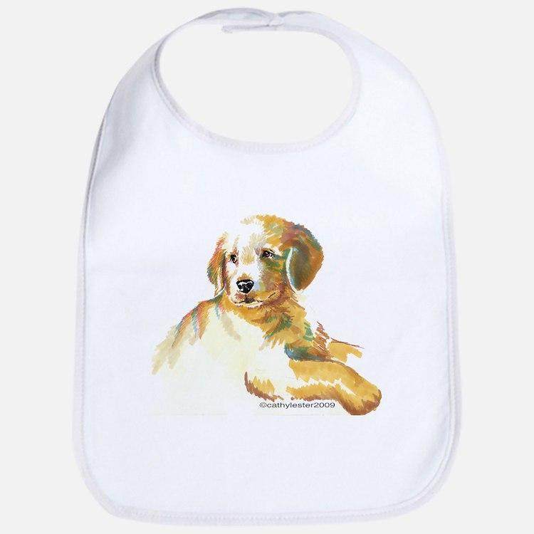 Golden Puppy - darling Bib