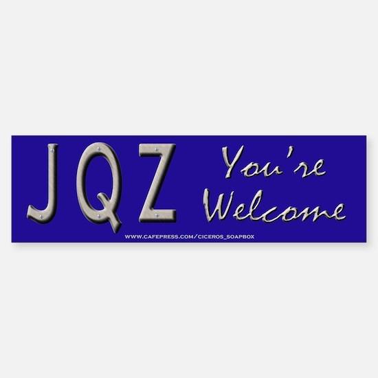 JQZ Alphabet Game Bumper Bumper Bumper Sticker