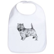 Cairn Terrier pen & ink Bib
