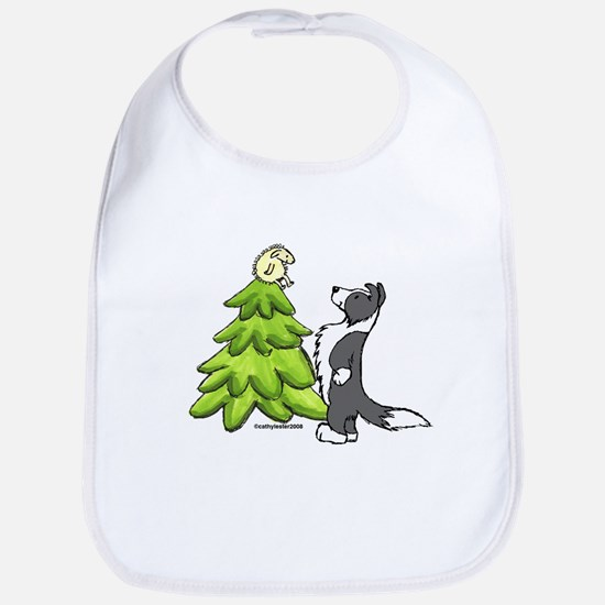 Border Collie Christmas Bib