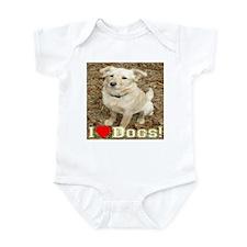 I Love Dogs Infant Bodysuit