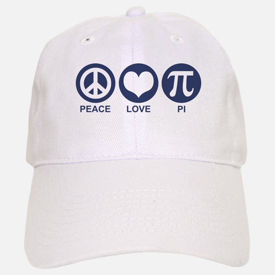 Peace Love Pi Baseball Baseball Cap
