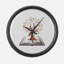 Reading is Knowledge Large Wall Clock