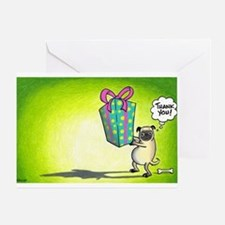 pug thank you card Greeting Cards
