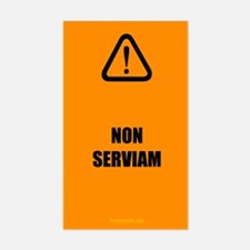 Non Serviam (latin) Rectangle Decal