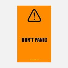 Don't Panic Rectangle Decal
