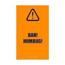 Bah! Humbug! Rectangle Decal