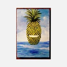 Smiling Pineapple Rectangle Magnet