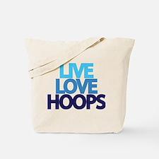 Live Love hoops Tote Bag