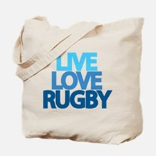 Live Love Rugby Tote Bag