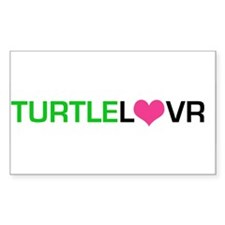 Turtle Lover Rectangle Decal