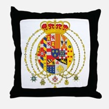 Kingdom of Two Sicilies Coat Throw Pillow
