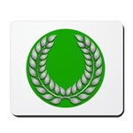 Green with Silver Laurel Mousepad