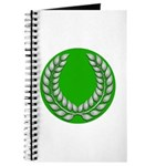 Green with Silver Laurel Journal