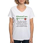 ObamaCare - Side Effects Women's V-Neck T-Shirt