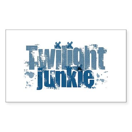 Twilight Junkie - blue Rectangle Sticker