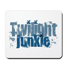 Twilight Junkie - blue Mousepad