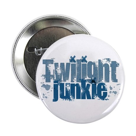 "Twilight Junkie - blue 2.25"" Button"