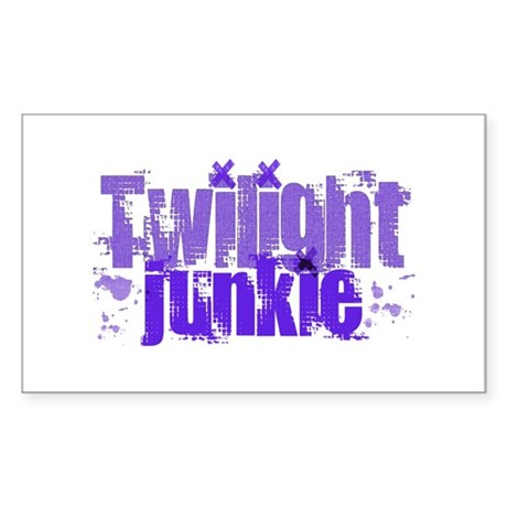 Twilight Junkie - purple Rectangle Sticker
