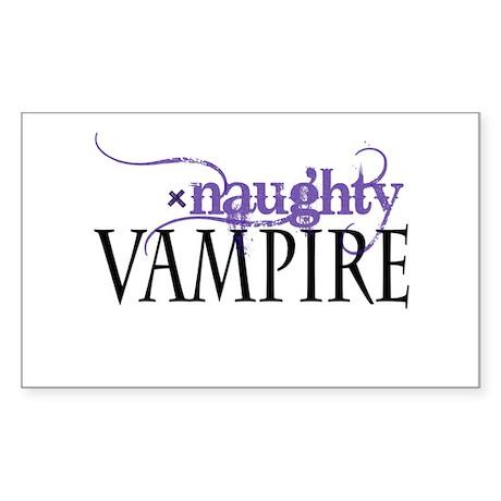 naughty VAMPIRE - purple Rectangle Sticker