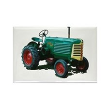 Funny Tractors vintage Rectangle Magnet