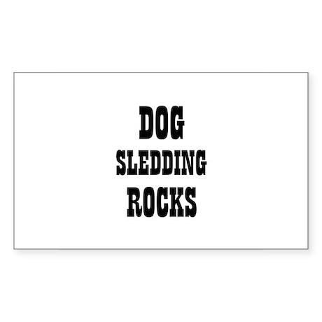 DOG SLEDDING ROCKS Rectangle Sticker