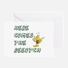 Cute Bee humor Greeting Card