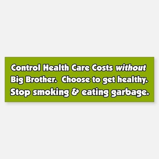 Big Brother Health Care Bumper Car Car Sticker