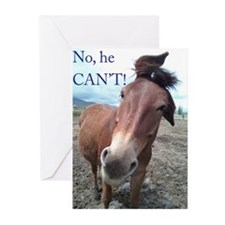 No he CAN'T Greeting Cards (Pk of 20)