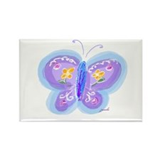 Little Blue Butterfly Rectangle Magnet