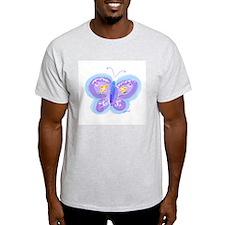 Little Blue Butterfly Ash Grey T-Shirt