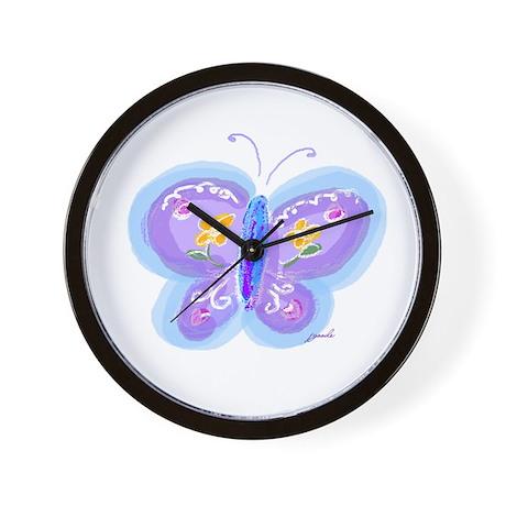 Little Blue Butterfly Wall Clock