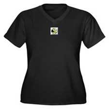 Read Women's Plus Size V-Neck Dark T-Shirt