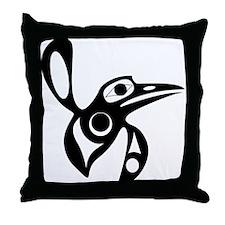 Haida Hummingbird Throw Pillow