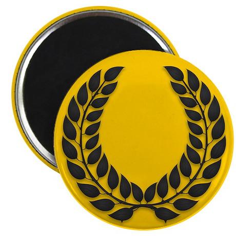 """Gold with Black Laurel 2.25"""" Magnet (100 pack)"""